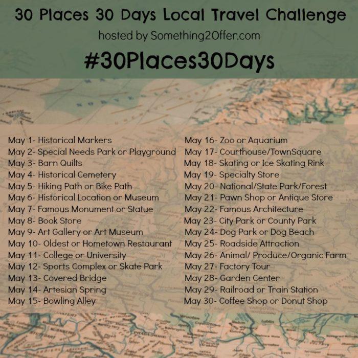 30 places 30 days