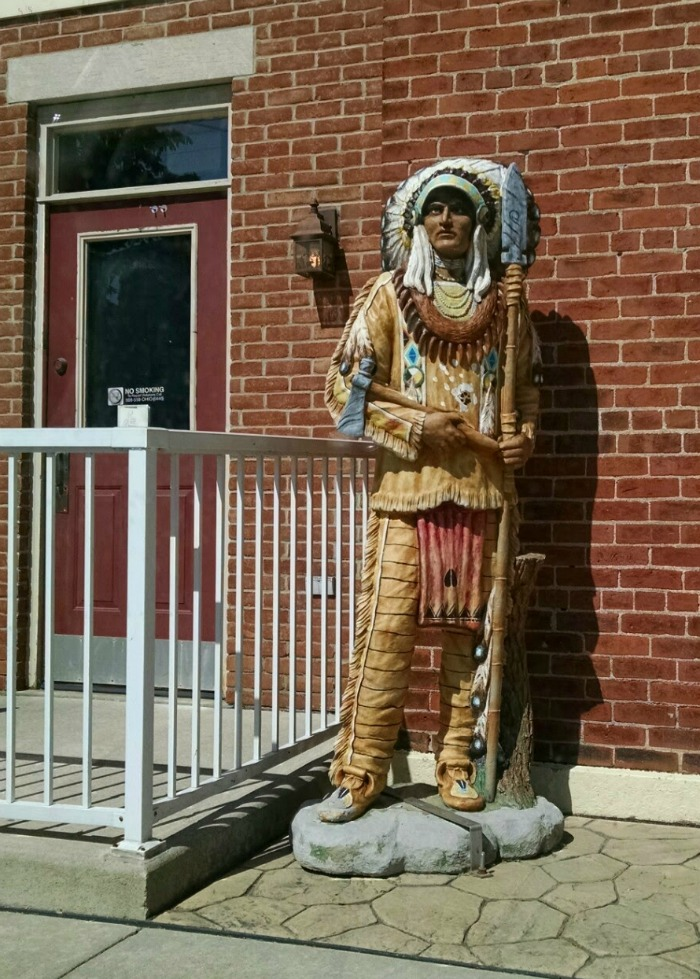 Indian Statue in front of Buffalo Jacks