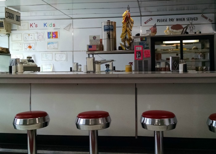 K's Hamburger Shop barstools