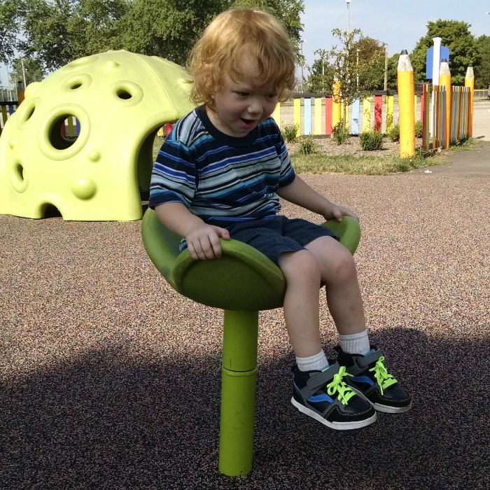 Special Needs Playground Lil' Red spinning seat
