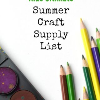 Kids Ultimate Summer Craft Supply List
