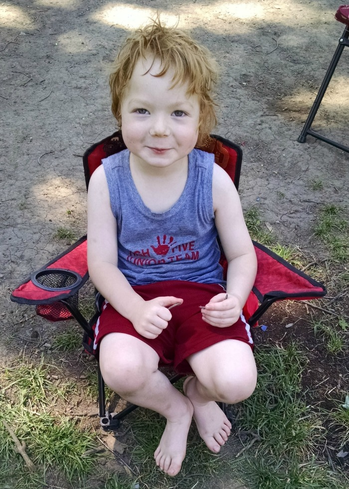 Lil' Red Cars Camp Chair