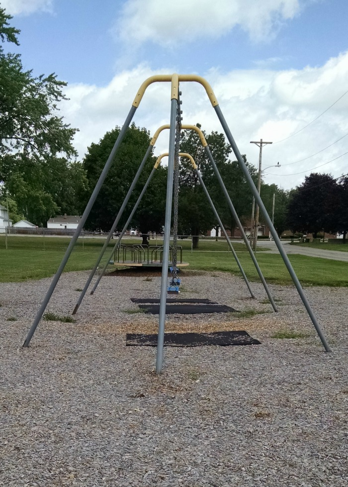 Swing-set at Armory Park