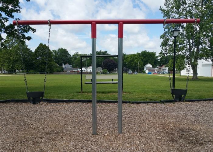 baby swings at Mote Park