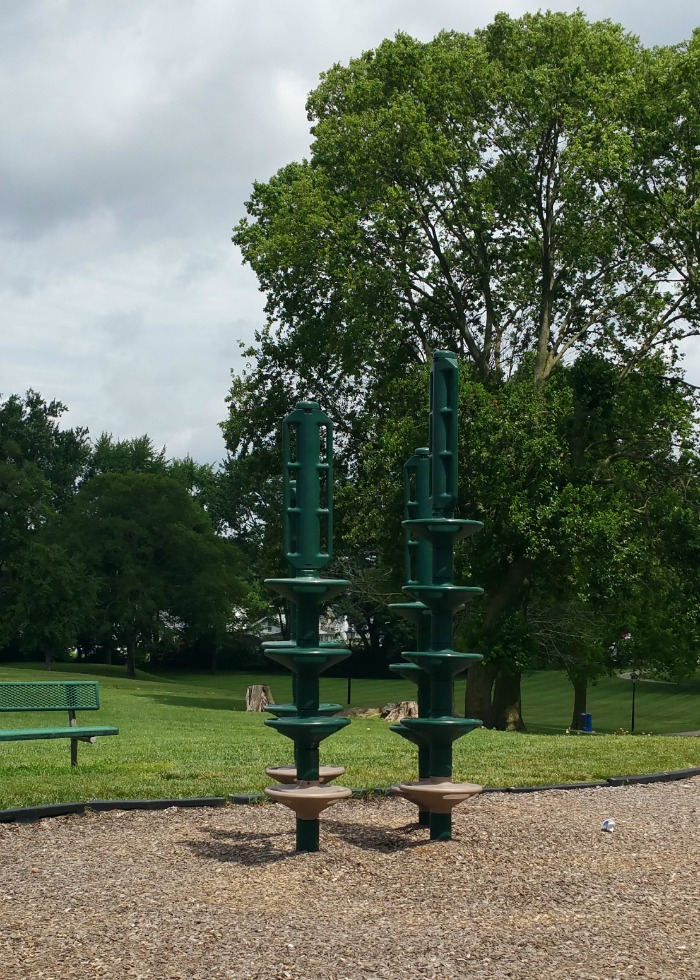 climbing poles at Mote Park