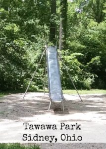 metal slides at Young Cove's in Tawawa