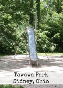 metal slides at Young Cove's in Tawawa