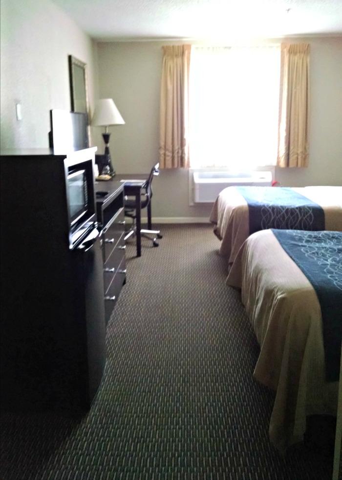 Comfort Suites towards window