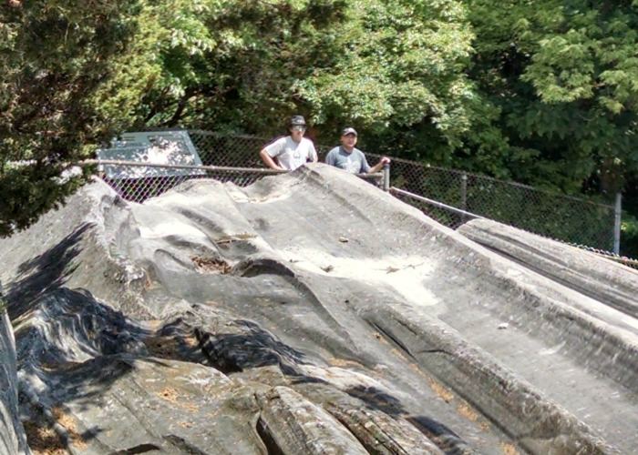 Glacial Grooves Eldest and Dad