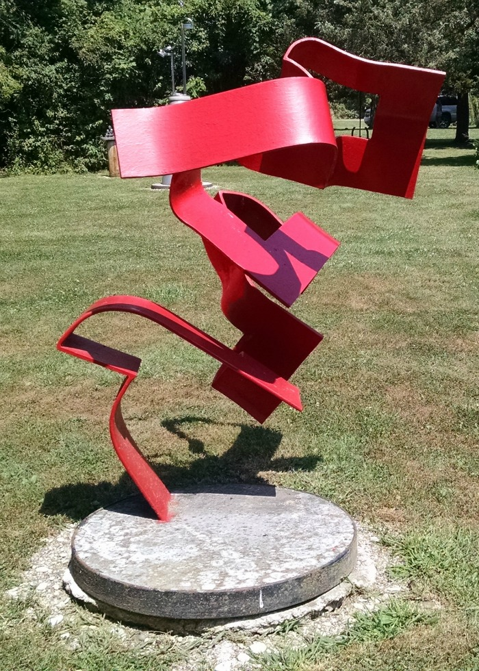 Herndon red sculpture