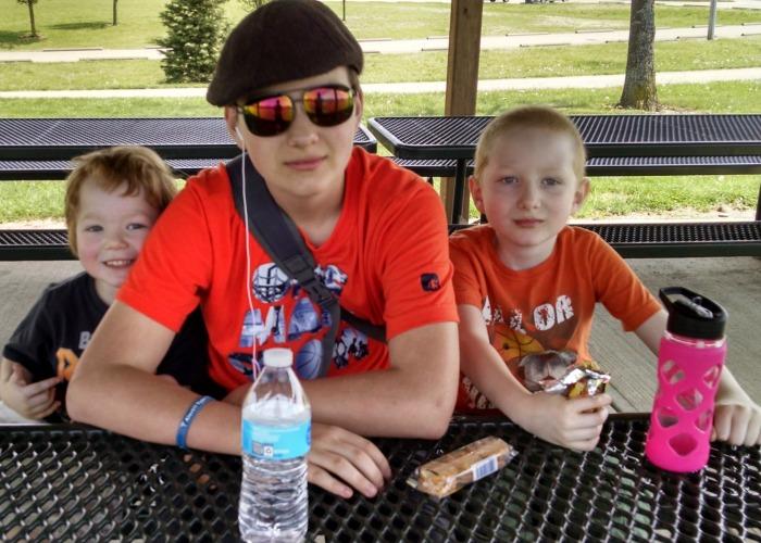 Boys at Duke Park Shelter