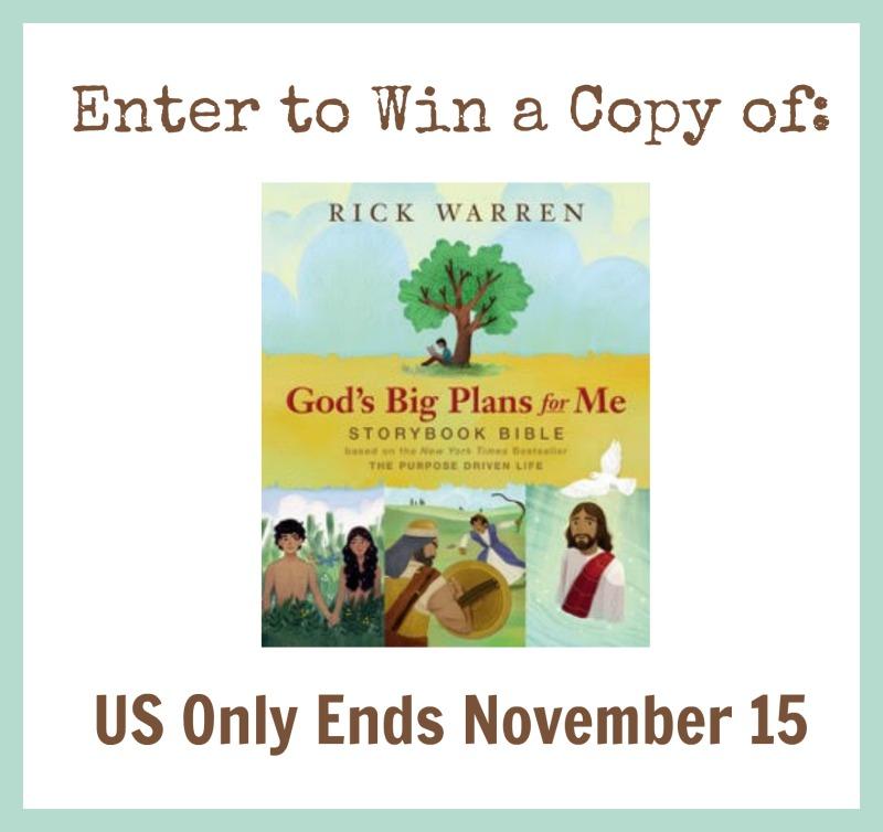 God's Big Plans Giveaway