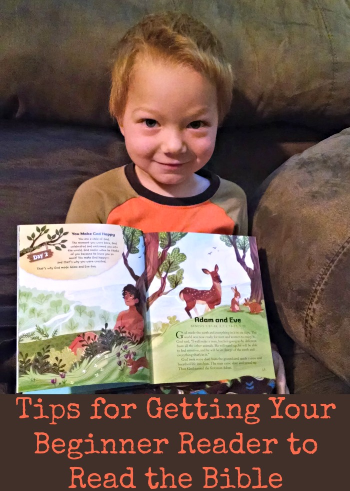 Tips for Getting Your Beginner Reader to Read the Bible