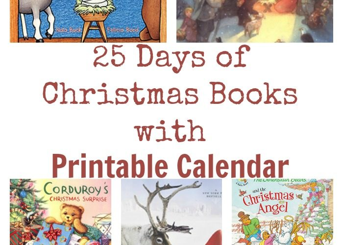 25 Days of Christmas Books with Printable Calendar {Subscriber Freebie}