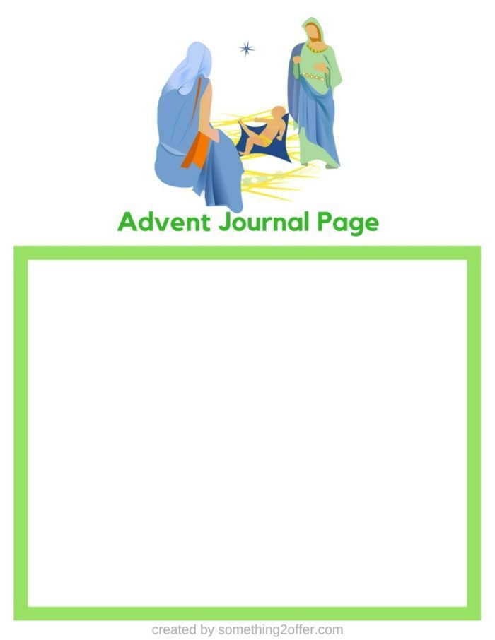 Advent Journal Page