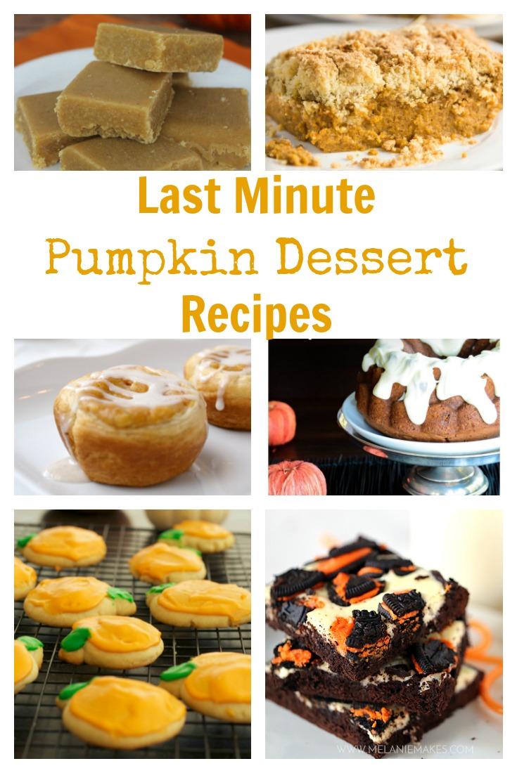 Last Minute Pumpkin Dessert Recipes