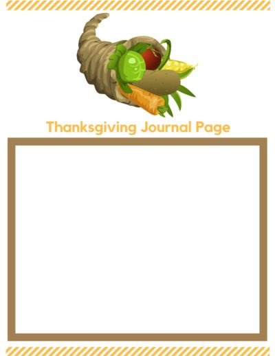 Thanksgiving Journal Pages storybox