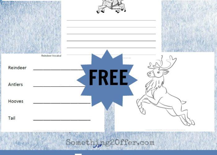 Reindeer Preschool Printable Pack