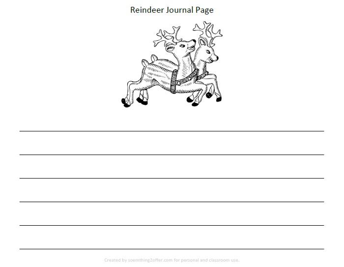 Reindeer Preschool Printable Pack journal page