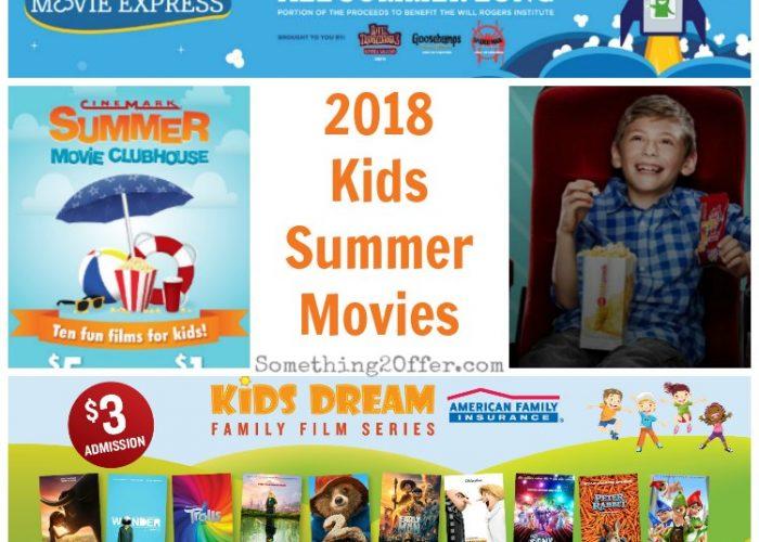 Kids Summer Movie Schedules