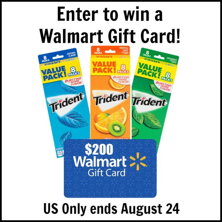 $200 Walmart Gift Card Trident Gum