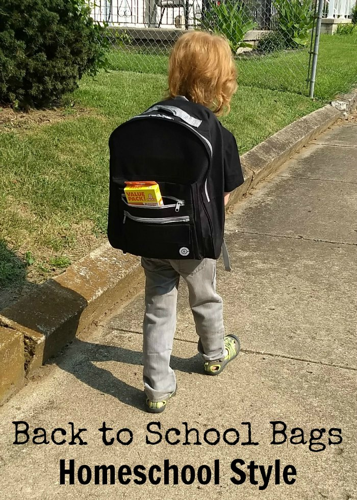 Back to School Bags Homeschool Style