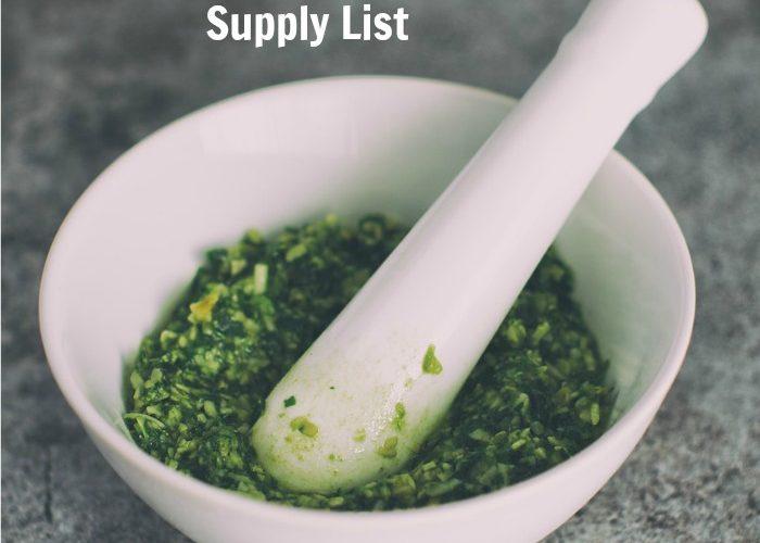 DIY Herbalism Course Supply List {Homeschool High School} #DIYHerbalismCourse
