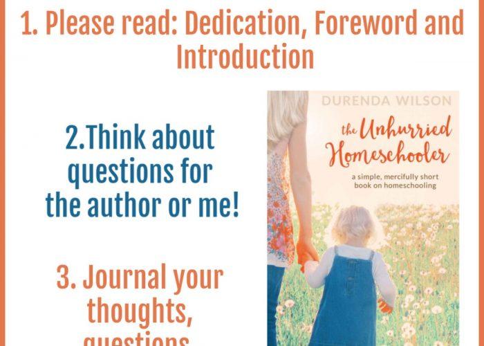 January Homeschool Mamas Book Club: The Unhurried Homeschooler #hsmamasbookclub