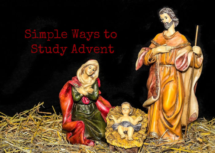 simple ways to study advent